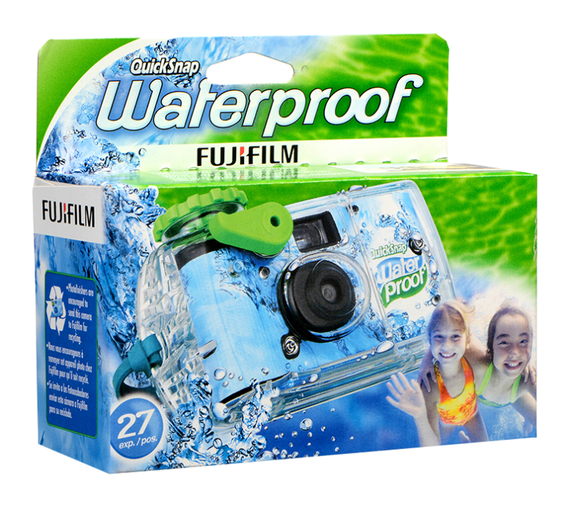 Fujifilm QuickSnap Marine Waterproof, 35mm, 800 ISO, 27 EXP